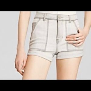Free People Shorts - Free People High-Waist Cuffed Denim Shorts
